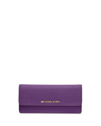Jet Set Travel Flat Wallet, Violet