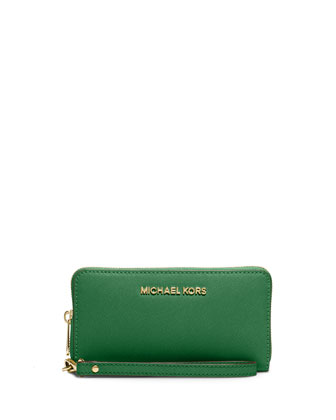 Large Jet Set Multifunction Wallet, Gooseberry