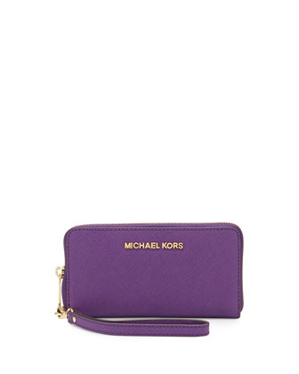 Large Jet Set Multifunction Wristlet,Violet