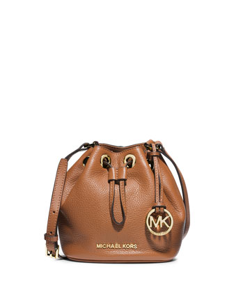 Jules Drawstring Crossbody Bag, Luggage