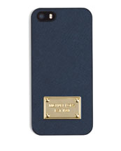 Electronics Saffiano Phone Cover, Navy
