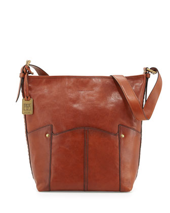 Renee Leather Bucket Bag, Whiskey
