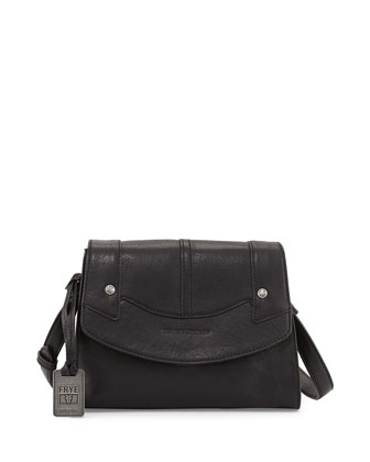 Renee Small Leather Crossbody Bag, Black