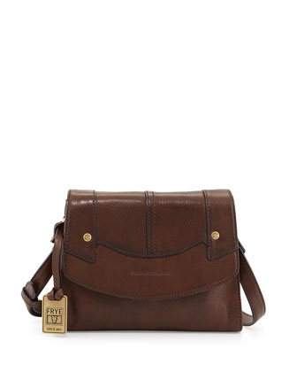 Renee Small Leather Crossbody Bag, Dark Brown