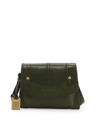 Renee Small Leather Crossbody Bag, Green