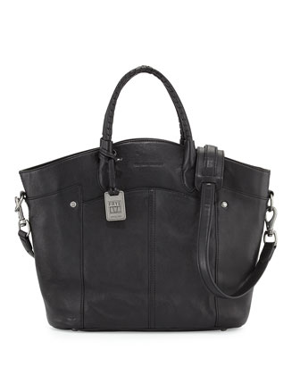 Renee Leather Tote Bag, Black