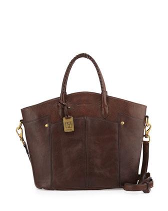 Renee Leather Tote Bag, Dark Brown