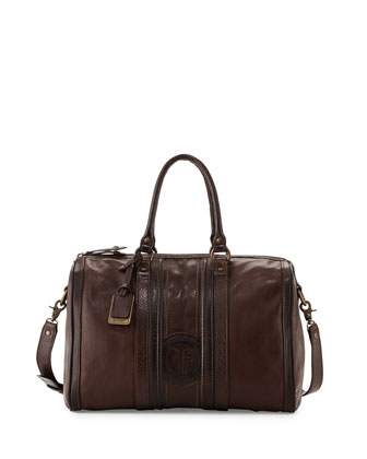 Jane Leather Duffel Bag, Dark Brown