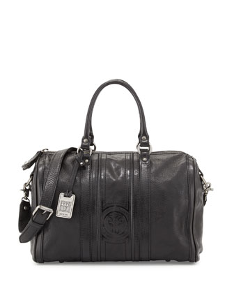 Jane Leather Duffel Bag, Black