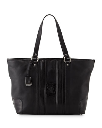 Jane Leather Tote Bag, Black