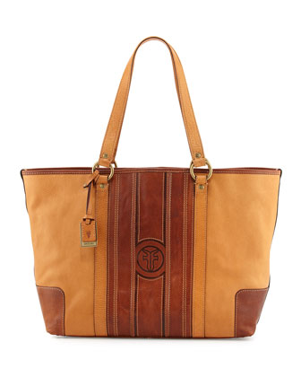 Jane Leather Tote Bag, Tan