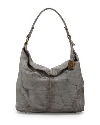 Campus Distressed Hobo Bag, Gray