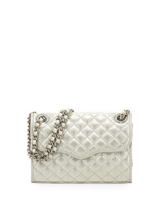Quilted Affair Mini Shoulder Bag, Silver