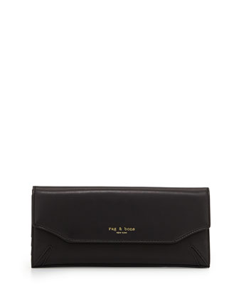 Crosby Leather Tri-Fold Wallet, Black