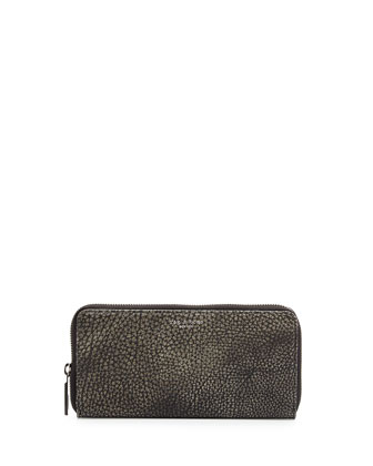 Crosby Continental Zip Wallet, Iron Gray