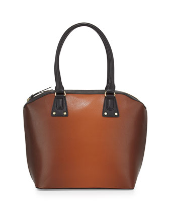 Ombre Stamped Tote Bag, Cognac