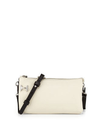 Double Gusset Pochette Bag, Chalk/Black