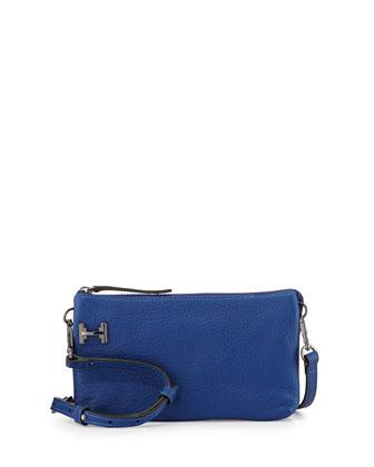 Double-Gusset Pochette Crossbody Bag, Cobalt