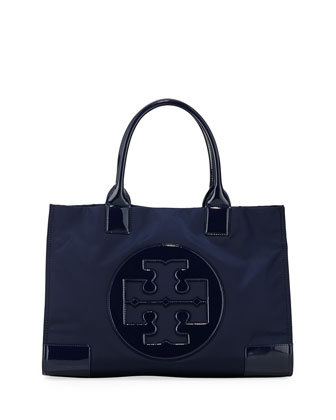 Ella Nylon Tote Bag, French Navy