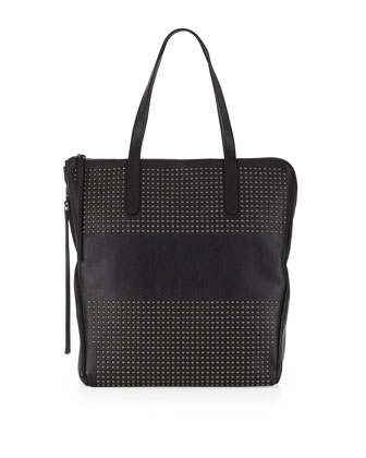 Tyler Studded Tote, Black