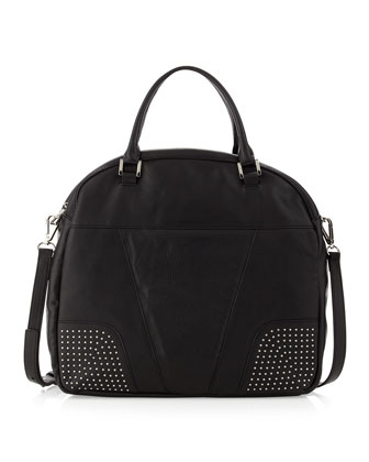 Dunham Leather Tote Bag, Black