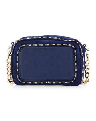 Dunham Zip-Trim Crossbody Bag, Navy