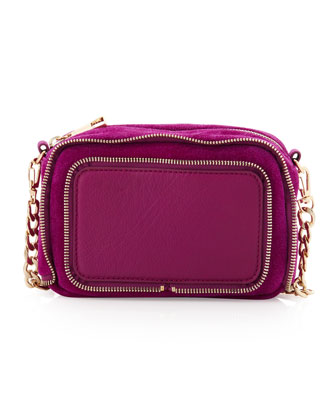 Dunham Zip-Trim Crossbody Bag, Fuchsia