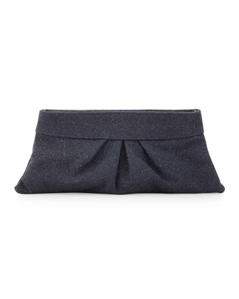 Eve Encrusted Glass Clutch, Denim
