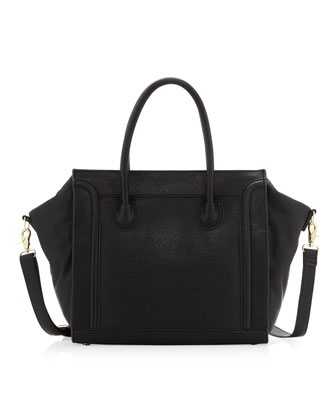 Seamed Tote Bag, Black