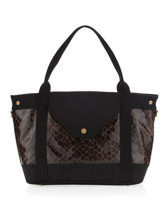 Wild Thing Tote, Walnut/Black