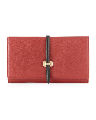 Jones Fold-Over Clutch, Red
