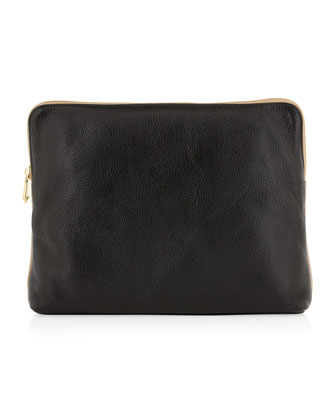 Dakota Colorblock Clutch, Black/Tan