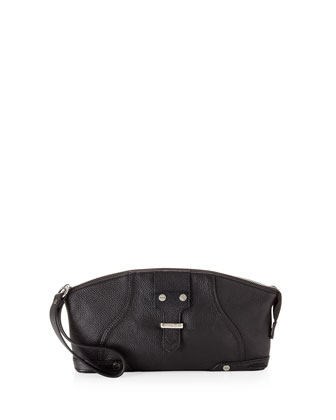 Jordan Leather Clutch Bag, Black