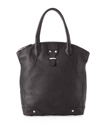 Jo North-South Tote Bag, Black