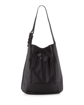 Gowanas Seamed Bucket Hobo, Black