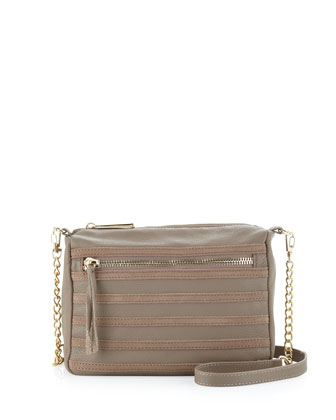 Carrol Seamed Crossbody Bag, Mocha
