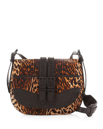 Kye Medium Combo Messenger Bag, Leopard