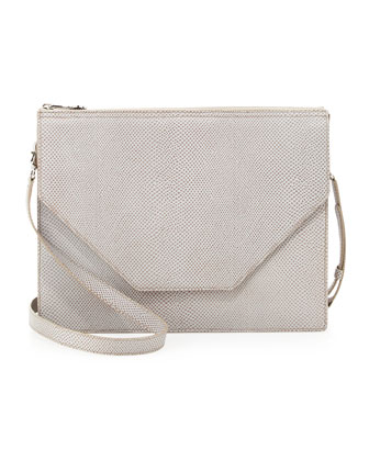Kirsten Pebble Leather Shoulder Bag, Ash