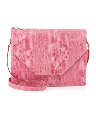 Kirsten Pebble-Leather Shoulder Bag, Pink