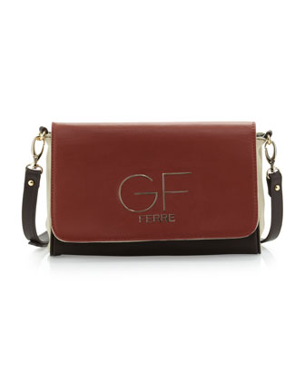 Colorblock Logo-Flap Crossbody Bag, Multi