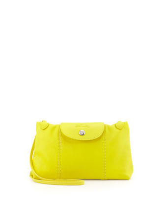 Le Pliage Cuir Crossbody Bag, Yellow