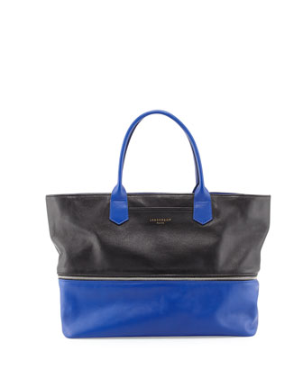 Longchamp 2.0 Tote Bag, Black/Blue