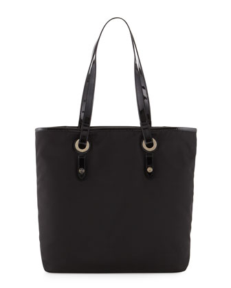 Abbi Nylon Tote Bag, Black