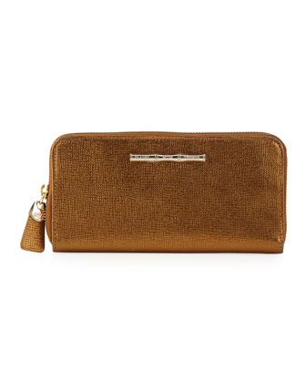 Zip Continental Wallet, Bronze