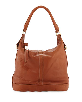 Medium Framed Bucket Bag, Whiskey
