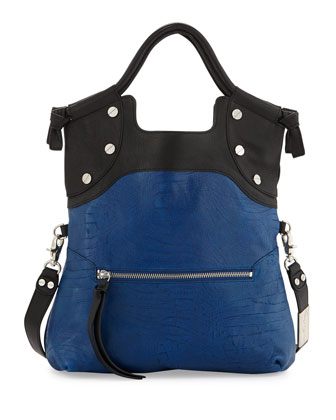 Lady Combo Convertible Bag, Black/Azure