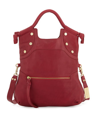 Lady Leather Convertible Bag, Lobster