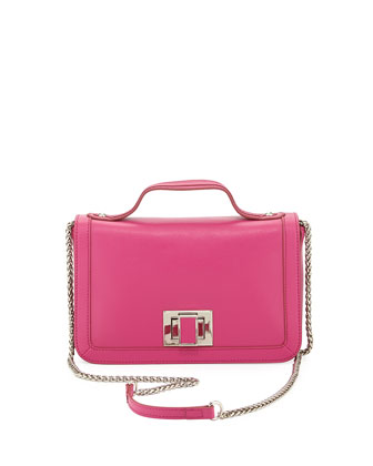 Jody II Square-Handle Crossbody Bag, Pink