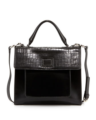 Jocelyn Structured Satchel, Black