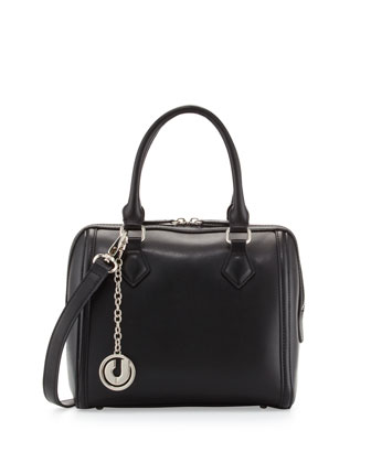 Jackson II Checkerboard Leather Mini Satchel, Black